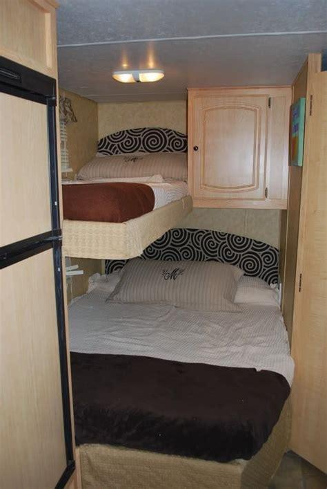vintage style camper bunk bed ideas  travels plan camper bunk beds remodeled campers