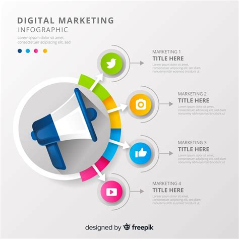 Free Digital Marketing by Digital Marketing Infographic Vector Free