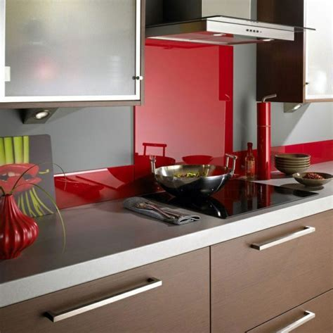 Kitchen Rear Wall From Glass ? The Modern Tile Mirror