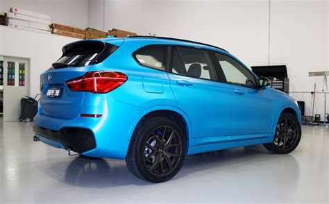 bmw  wrapped   satin ocean shimmer ultimate car