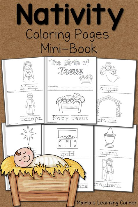nativity coloring pages mamas learning corner