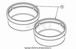 Troy Bilt 13an77bs011 Pony  2017  Parts Diagram For Hub Cap