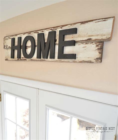 Diy Farmhouse Style Home Sign  Little Vintage Nest