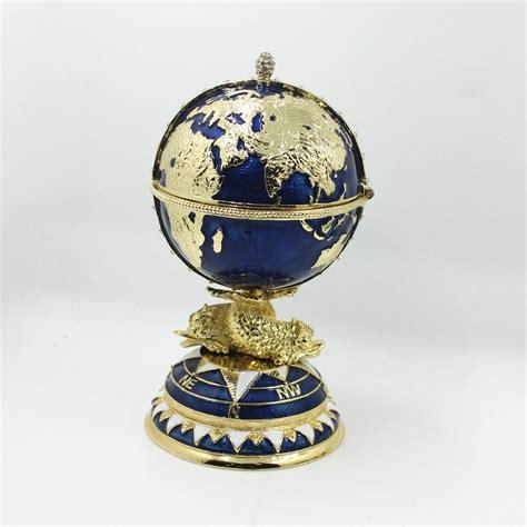 fengshui faberge egg trinket box  globe  ship home