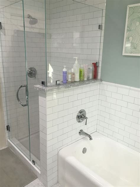 toto shower  tub fixtures platinum grout renovated
