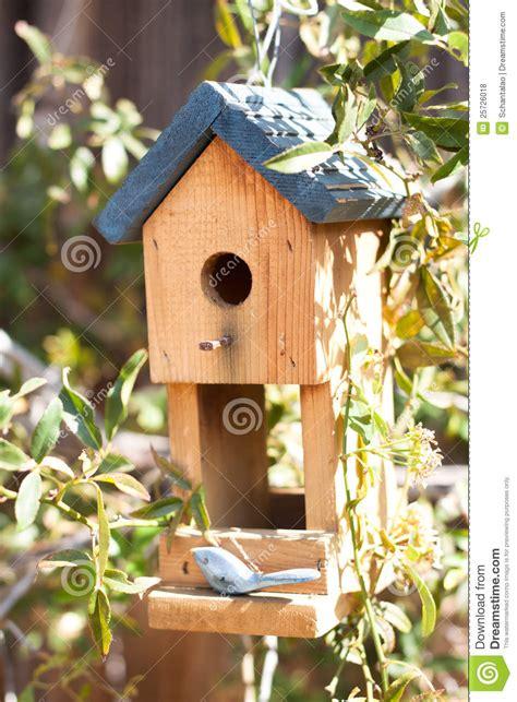 cute bird house  garden stock photo image  house