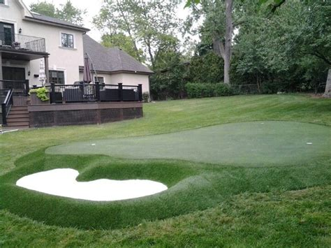 Backyard Golf Drills by New Backyard Putting Green For A Golfing Family With