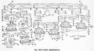 American Flyer Locomotive 4713 Parts List  U0026 Diagram
