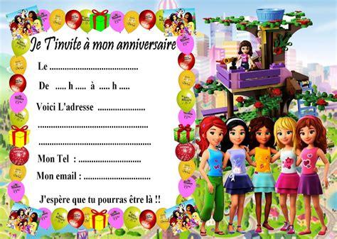 5 Cartes Invitation Anniversaire Lego Friends 02 D'autres