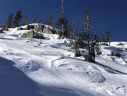 Mammoth Snow Crest Snowpack Conditions Area Avalanche