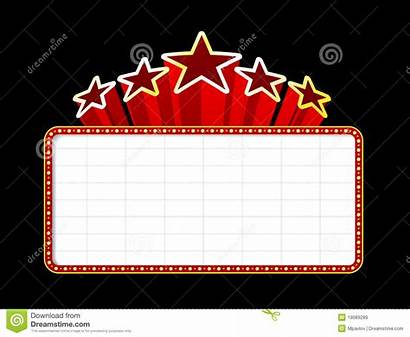 Marquee Theater Blank Casino Background Sign Vector