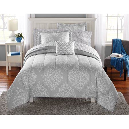 mattress in a bag mainstays leaf medal bed in a bag bedding set walmart