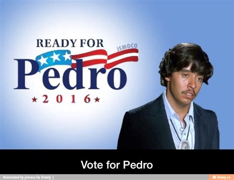 Vote For Pedro Meme - vote for pedro would be way better than hillary