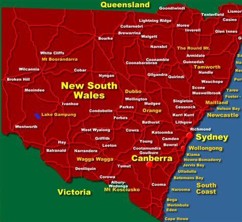 south wales australia map