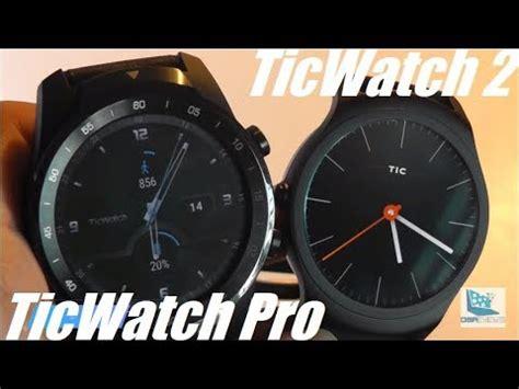 comparison ticwatch pro vs ticwatch 2 smartwatches