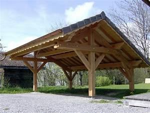 Abri Voiture En Bois : abri voiture en bois ~ Nature-et-papiers.com Idées de Décoration