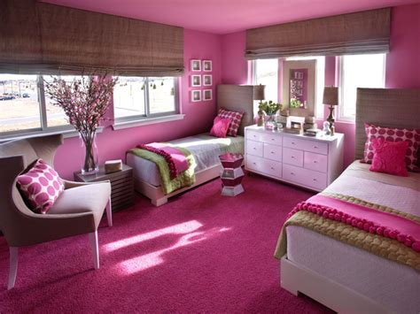 Sophisticated Girl's Room Palette Of Linen, Hot Pink And