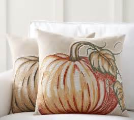 applique pumpkin pillow covers pottery barn
