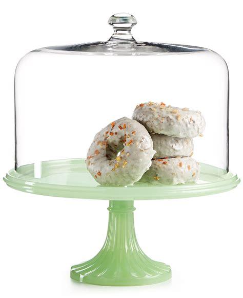 martha stewart collection jadeite cake stand  dome