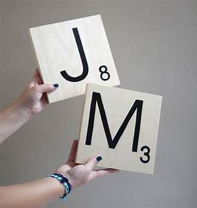 how to make giant scrabble tile table numbers With giant scrabble letters
