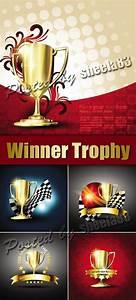 Adobe Plus: Winner Trophy Backgrounds Vector