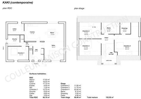 plan maison moderne 5 chambres plan de maison 5 chambres plan maison plan de maison 96m