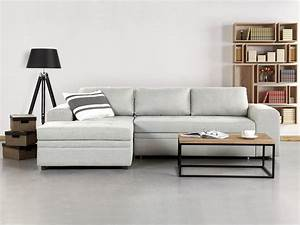 Sectional sleeper sofa light gray kiruna belianicom for Light grey sectional sofa canada