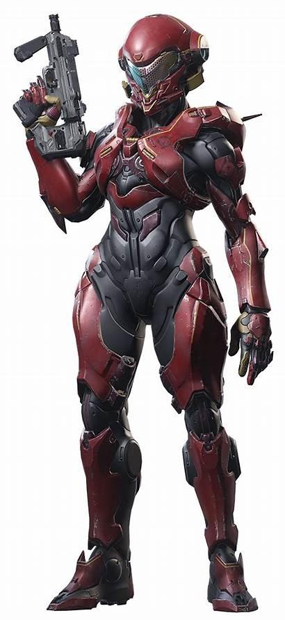 Halo Vale Armor Female Render Spartan Mjolnir