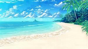 Anime Beach Background By Darci Mulierchile