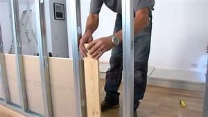 Fabriquer Une Cloison Amovible : monter une cloison etape par tape bricolage youtube ~ Melissatoandfro.com Idées de Décoration
