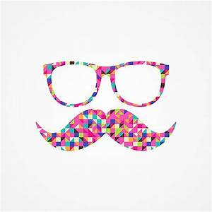 """Funny Girly Pink Abstract Mustache Hipster Glasses"" by ..."