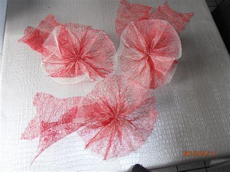 3fleurs en tulle et resille pour decoration voiture mariage autres accessoires par yeyayelboutique