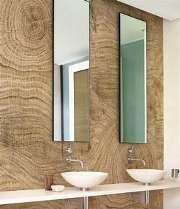 Tapeten Badezimmer Beispiele : holz tapete f r gem tliches ambiente 24 ideen in holzoptik ~ Markanthonyermac.com Haus und Dekorationen