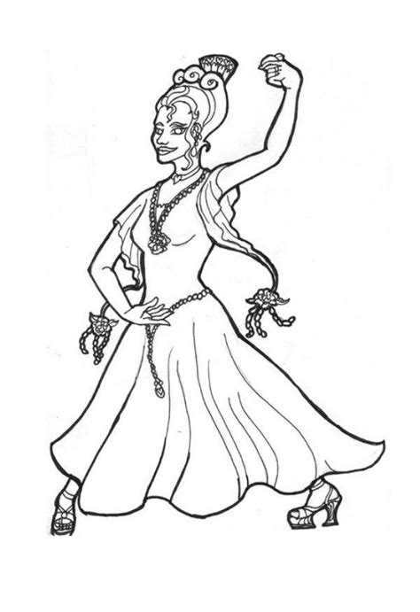 dibujo  colorear princesa flamenca img