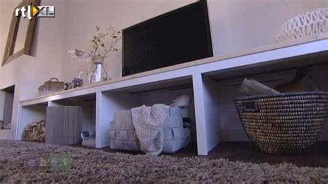 kast maken betonblokken trap dichtmaken met draaikast en tv meubel werkspot