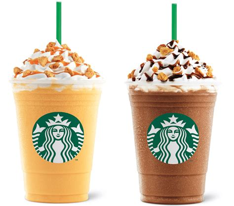 starbucks honeycomb crunch frappuccino  food items