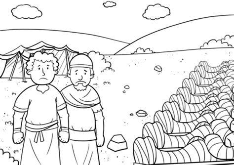 Rahab And The Spies Coloring Page - Costumepartyrun