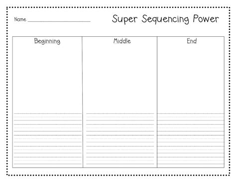 stories with beginning middle and end worksheets free