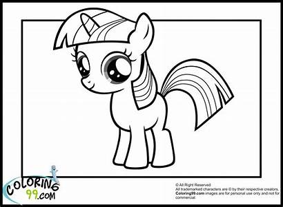 Pony Coloring Twilight Sparkle Printable Equestria Young