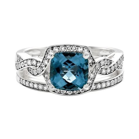 shades  love london blue topaz  ct tw diamond