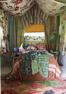 adorable, gypsy, bedroom, decorating, ideas