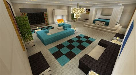 minecraft bedroom with living area furniture and canopy