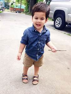 Toddler Boy Summer Outfit. Crazy 8 Chambray button down ...