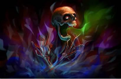 Skeleton Bones Skull Wallpapers Fantasy Wall Fabric