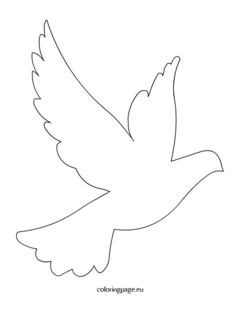 dove template easter coloring page