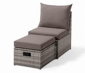 Loungesessel Mit Hocker : loungesessel mit fu teil polyrattan bei tchibo ~ Orissabook.com Haus und Dekorationen