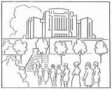 Temple Coloring Lds Synagogue Lake Salt Irvine Mormon Building Rebecca Getdrawings 1923 August Canada Getcolorings sketch template