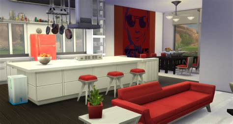 sims  blog modern open concept kitchen dining