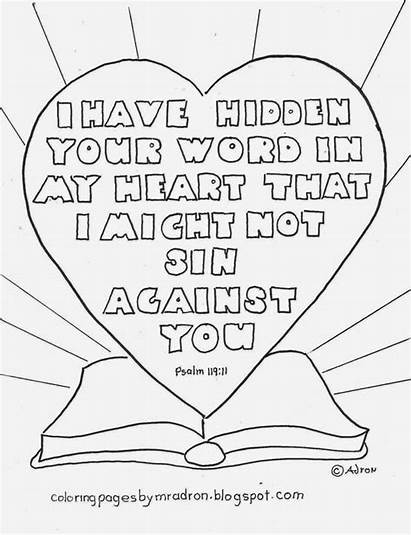 Coloring Psalm Pages Word 119 Hidden Bible