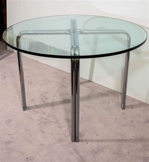 mid century glass dining table mid century dining table with circular glass top and